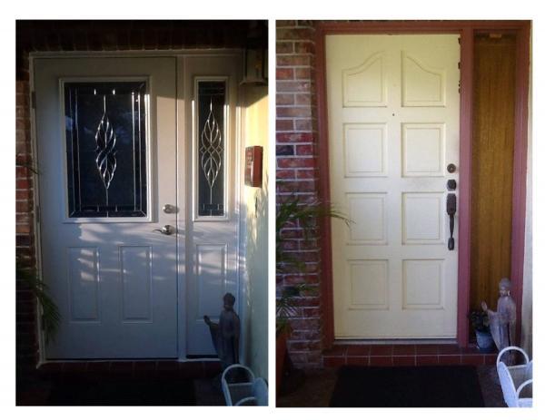 Entry Door Replacement Coral Springs Fl. - Before u0026 After Entry Door Replacement with Therma Tru - Impact Resistant Fiberglass Door u0026 Sd. Lite & Gallery of Completed Work: Gallery: Impact Resistant Windows and ...